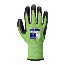 Rękawica antyprzecięciowa Green kat.5  - Pianka nitrylowa PORTWEST A645