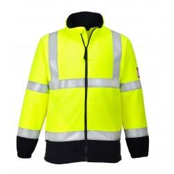 Bluza polarowa ostrzegawcza, trudnopalna i antystatyczna PORTWEST FR31
