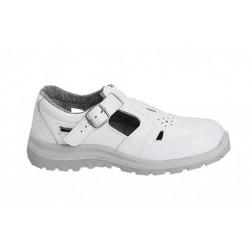Sandały bezpieczne z metalowym podnoskiem (białe) PPO Model 251B