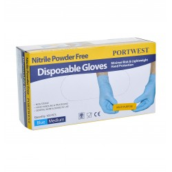 Jednorazowe rękawice nitrylowe niepudrowane PORTWEST A925