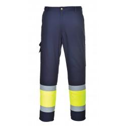 Ostrzegawcze, dwukolorowe spodnie bojówki  PORTWEST E049