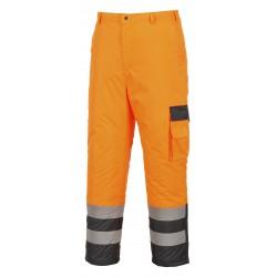 Dwukolorowe spodnie ostrzegawcze-ocieplane PORTWEST S686