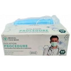 Maska Procedure – medyczna / chirurgiczna EN14683:2019 - 3 warstwowa Orange Pharmaceutical Company limited (kolor niebieski).