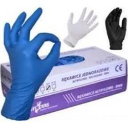 Rękawice nitrylowe jednorazowe