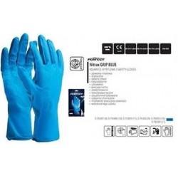 Rękawice nitrylowe wielorazowe, grubsze, przedłużane i mocne