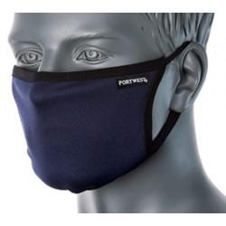 Maska trójwarstwowa antywirusowa wielokrotnego użytku z wykończeniem antybakteryjnym