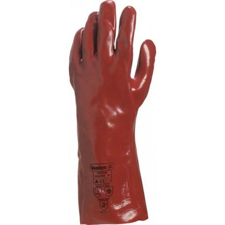 PVC7335 RĘKAWICA PVC CZERWONA DŁUGOŚĆ 36 CM